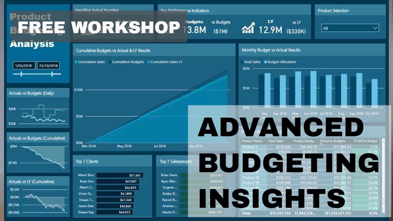 Advanced Budgeting Insights in Power BI - FREE Training Workshop
