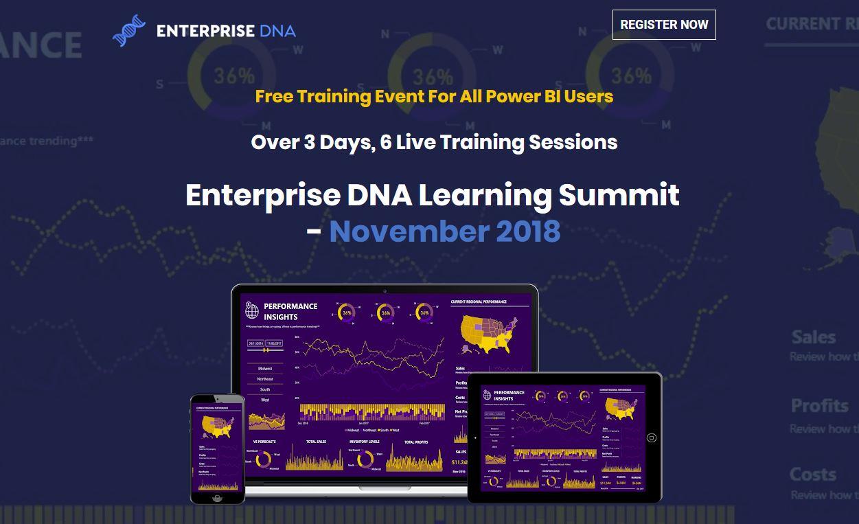 Registrations For Next Enterprise DNA Learning Summit Now Open - November 2018