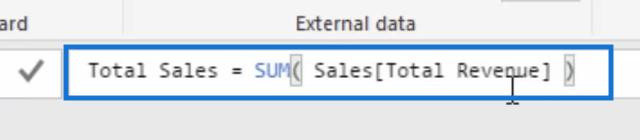 total sales measure