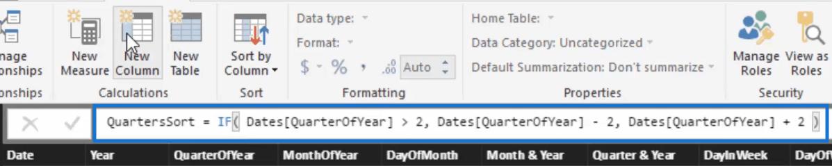 formula for sorting quarters