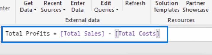 total profits formula