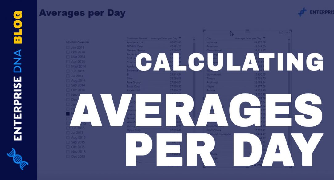 Measure Averages Per Day Using AVERAGEX With DAX