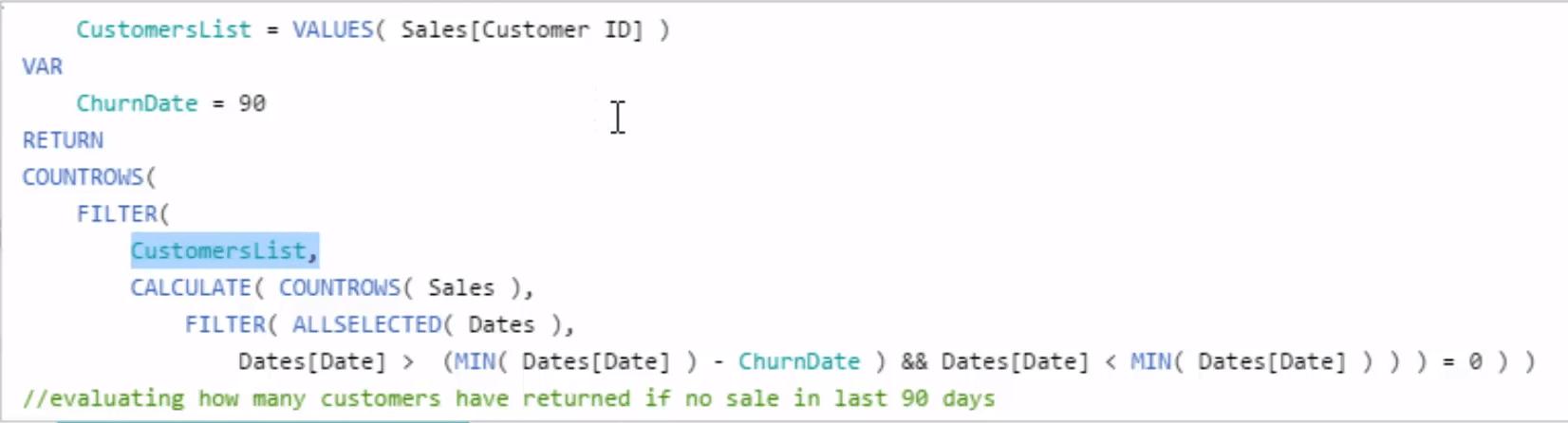 Returning Customers formula in Power BI using DAX