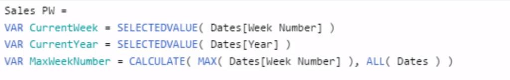 weekly sales