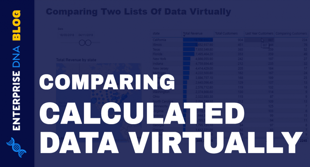 How To Compare Two Lists Of Calculated Data Virtually - Advanced DAX Technique