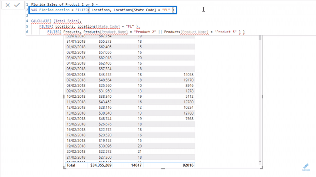 Creating FloridaLocation variable