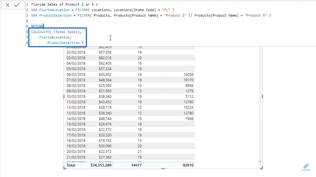Creating and using FloridaSelection variable