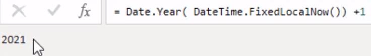 Power BI date table