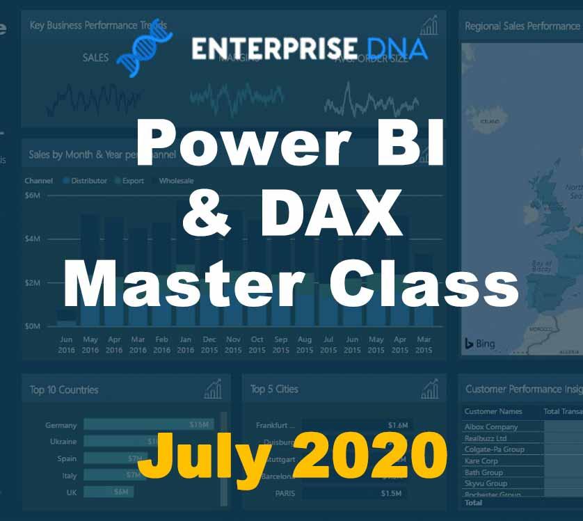 Power BI & DAX Master Class July 2020 - Enterprise DNA