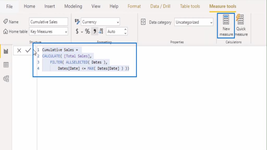 Copying the cumulative total DAX pattern