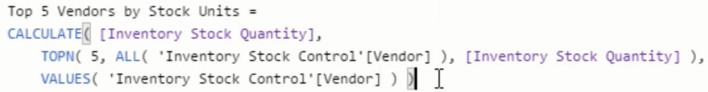 vendor analysis