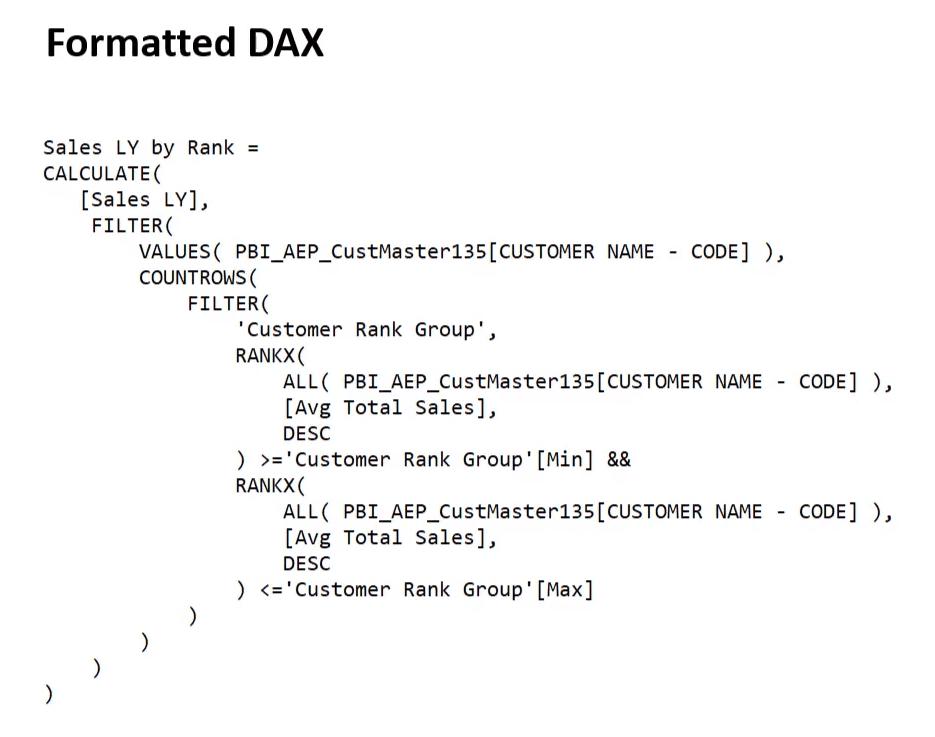 power bi dax function