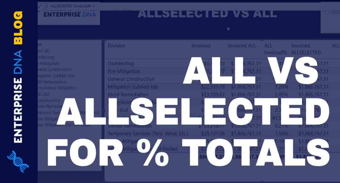 Percentage Of Total Using ALL And ALLSELECTED