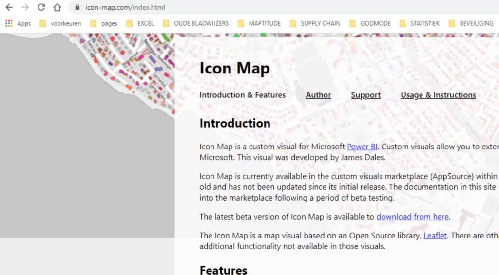 Power BI icon map website
