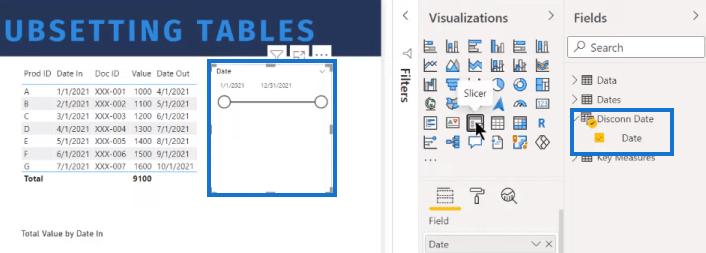 table visual in power bi