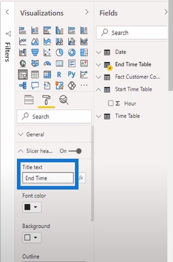 time tables in Power BI