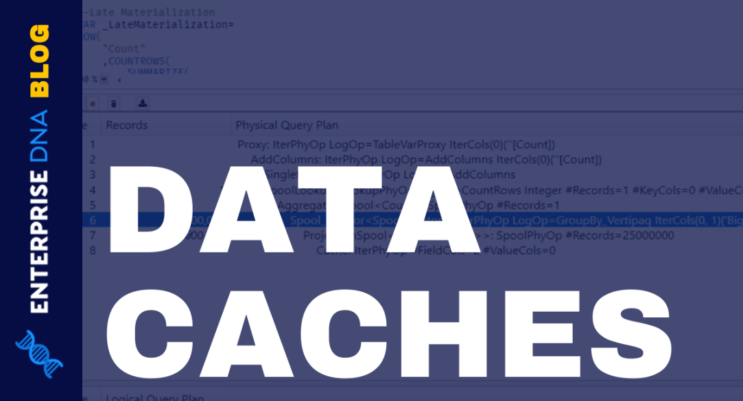 Data Caches In A DAX Calculation