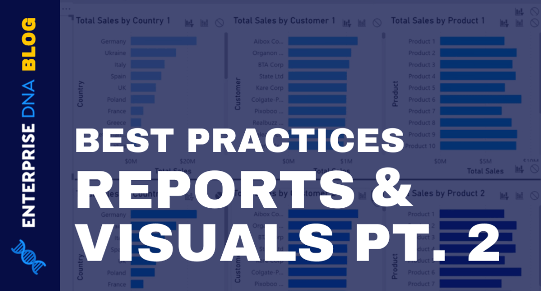Power BI Best Practice On Reports & Visualizations