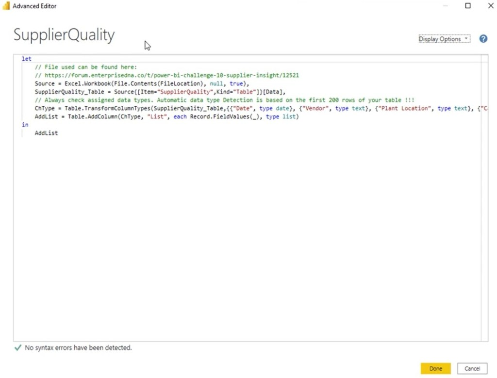 power query features