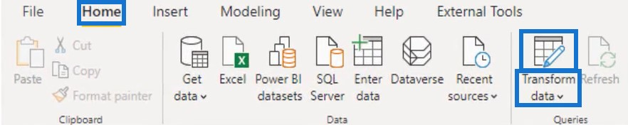 power query tools