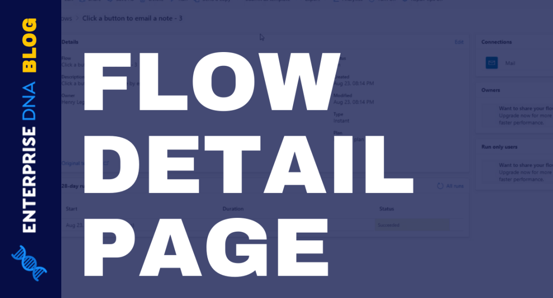Flow Diagrams And Flow Detail Page In Power Automate
