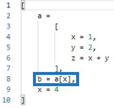 nested expressions