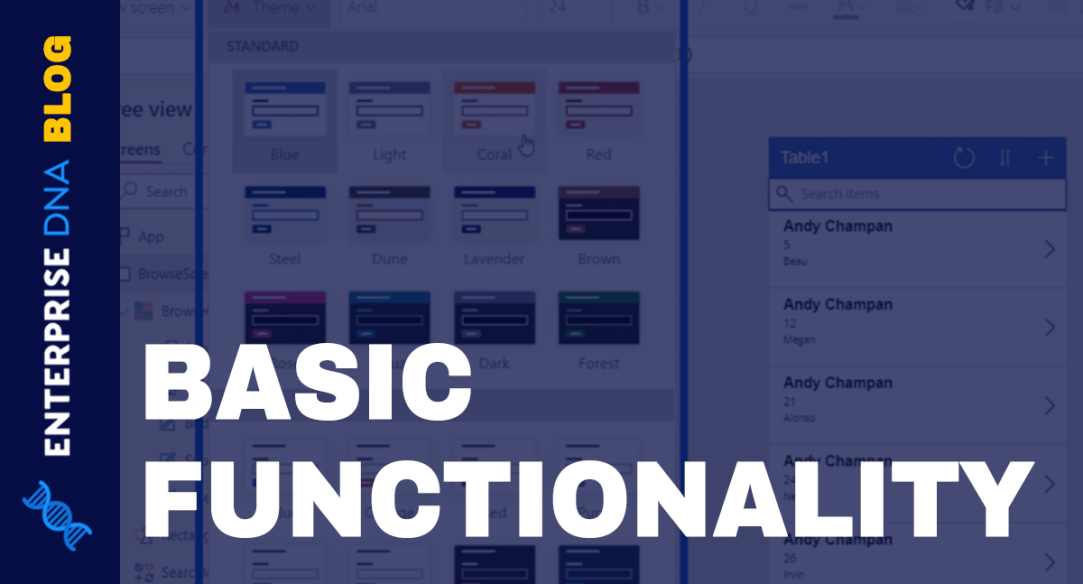 Power Apps Fundamentals: Basic Functionality And Customization