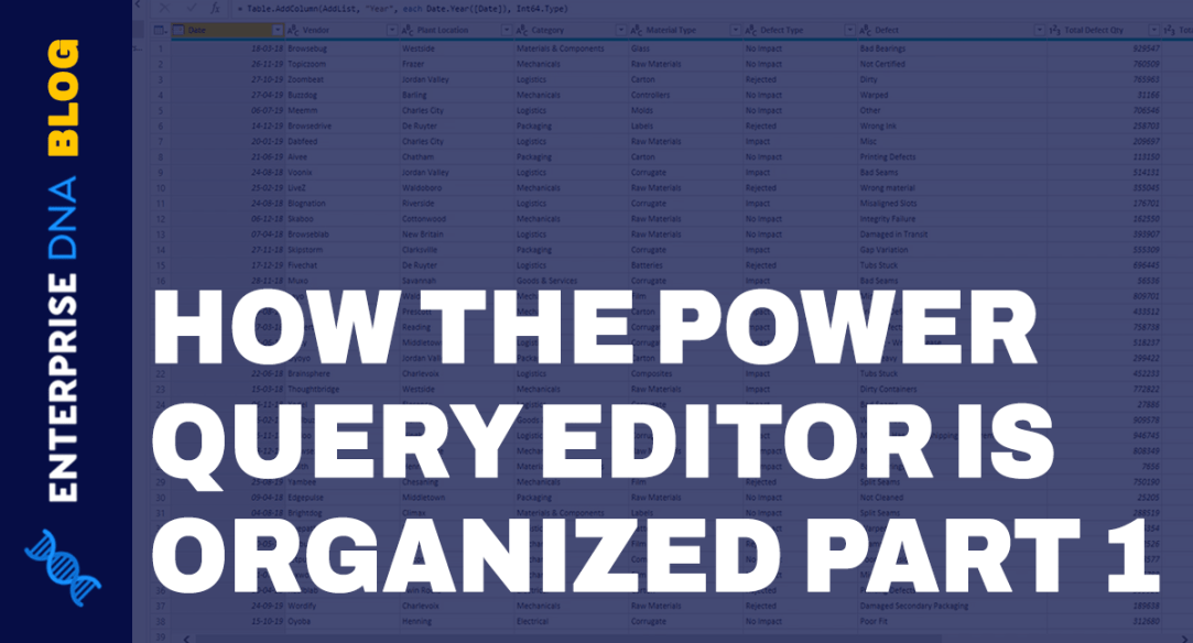 Power Query Tools, Tabs, And User Interface