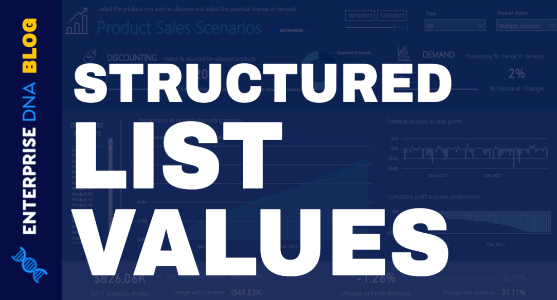 Structured List Value – An Ordered Sequence Of Values