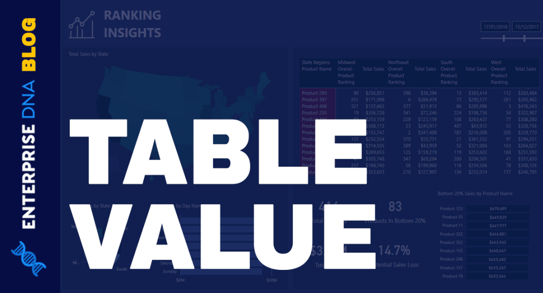 Table Value - A Common Structured Value In Power BI