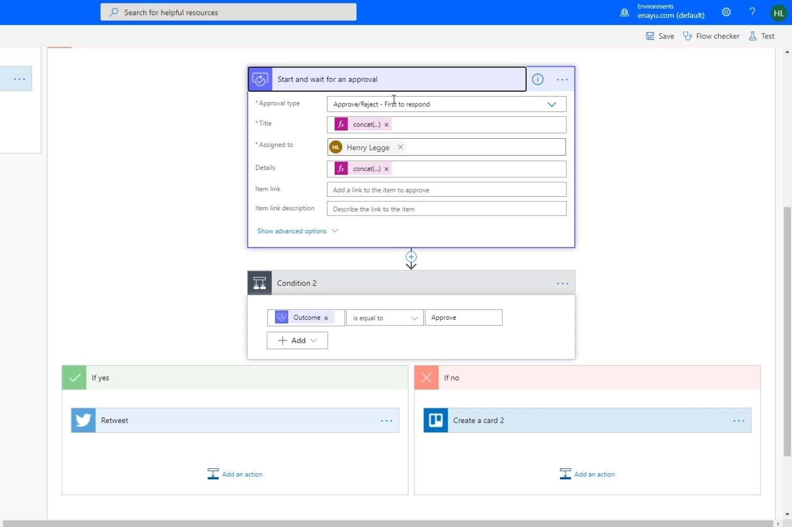 Microsoft flow Approval