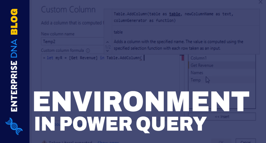 Nested Expressions: Power Query Environments
