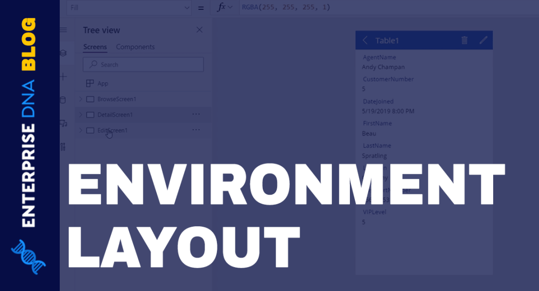Power Apps Environments: Setting Up The App Elements Properly
