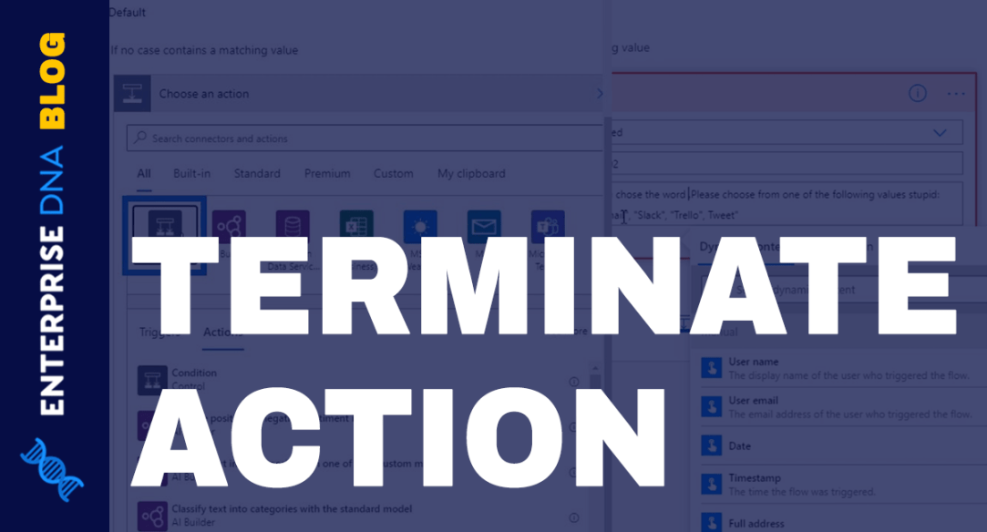 Power Automate Terminate Action Control In Flows