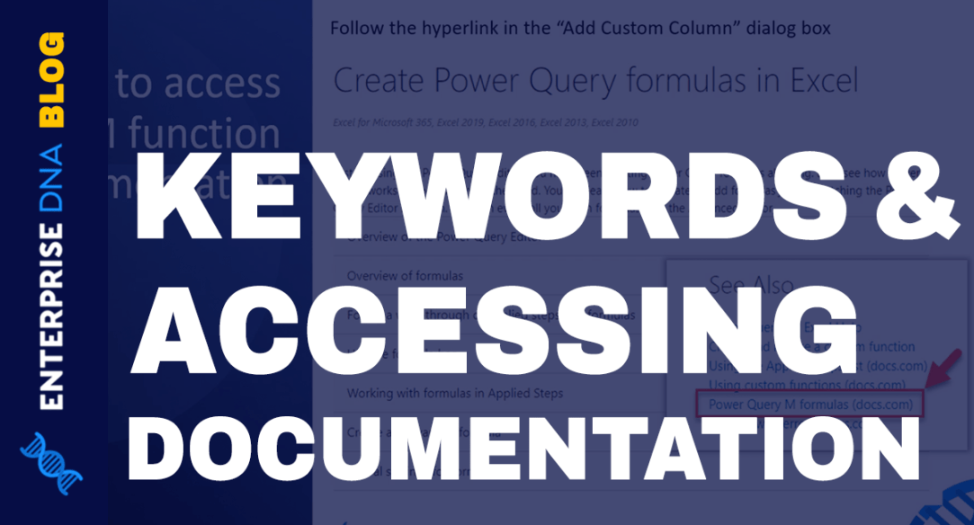 Power Query Functions, Keywords, And Identifiers