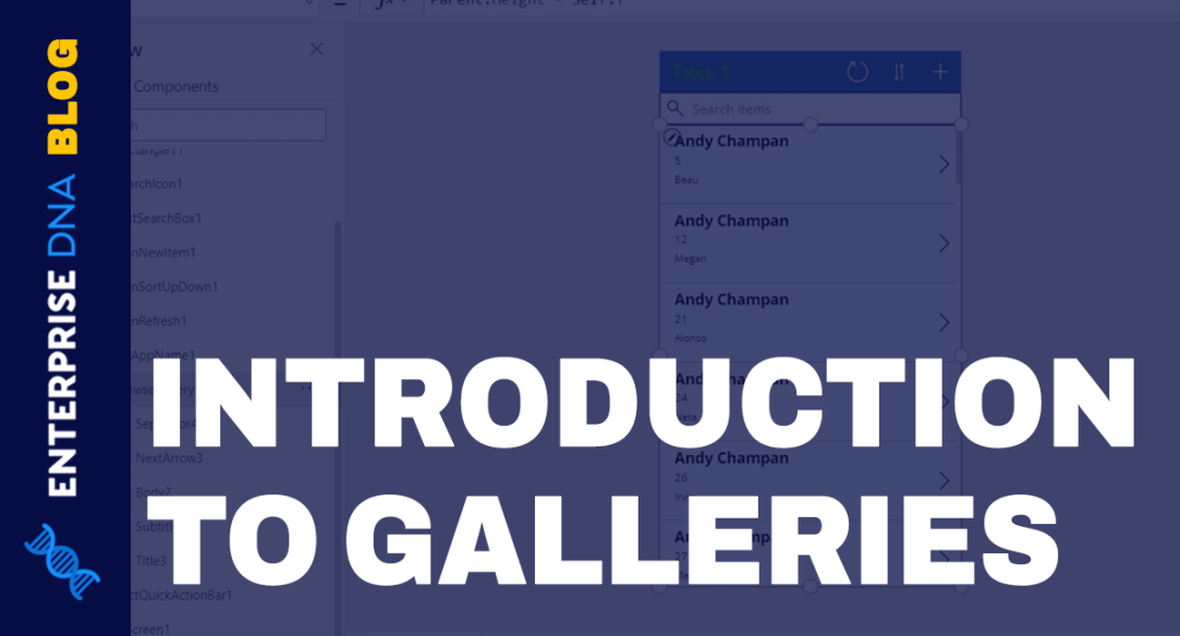 PowerApps Galleries: An Introduction
